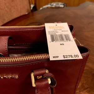 Michael Kors Satchel Bag Burgundy